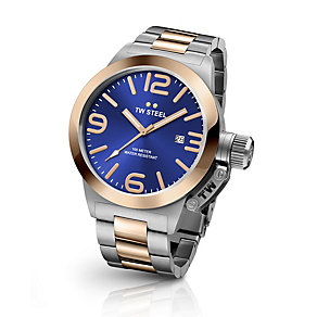 TW Steel Canteen men's two colour bracelet watch - Product number 3642348