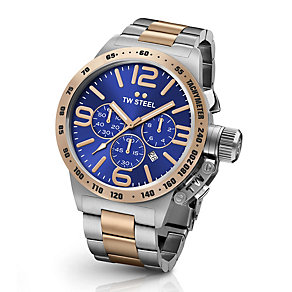 TW Steel Canteen men's two colour bracelet watch - Product number 3642437