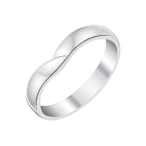 Ladies' 18ct White Gold Crossover Shaped Wedding Ring - Product number 3645207
