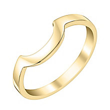 Ladies' 9ct Yellow Gold Curved Wedding Ring - Product number 3646297