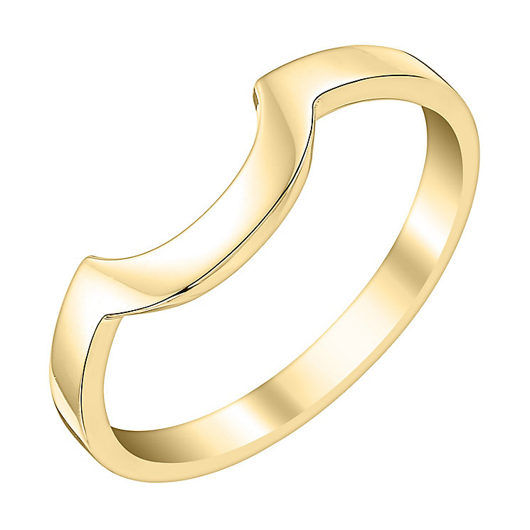 Ladies' 18ct Yellow Gold Curved Wedding Ring - Product number 3647072