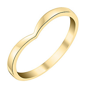 Ladies' 9ct Yellow Gold Shaped Slim Wedding Ring - Product number 3647455