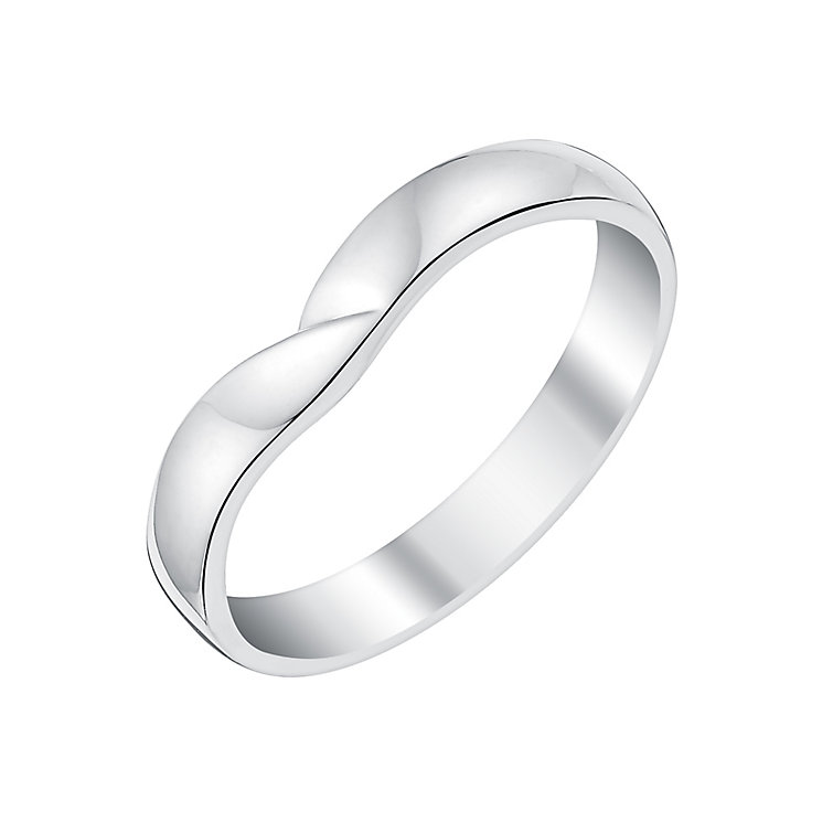 Ladies' Palladium Crossover Shaped Wedding Ring - Product number 3650162