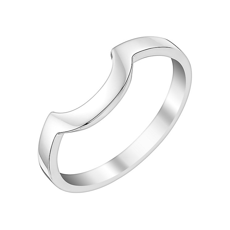 Ladies' Palladium Curved Wedding Ring - Product number 3650391