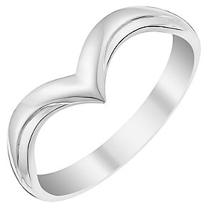 Ladies' 9ct White Gold V Shaped Wedding Ring - Product number 3651932