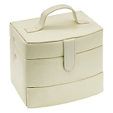 Cream Medium Automatic Tray Travel Jewellery Box - Product number 3654796