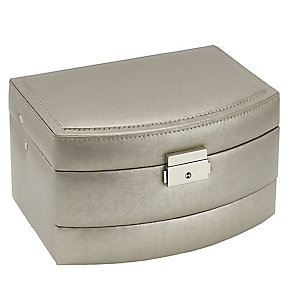 Metallic Large Automatic Tray Travel Jewellery Case - Product number 3654826