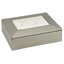 Metallic Medium Aluminium Inlay Jewellery Box - Product number 3654990