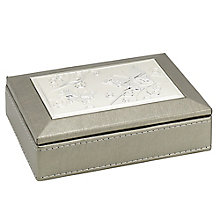 Metallic Small Aluminium Inlay Jewellery Box - Product number 3655261