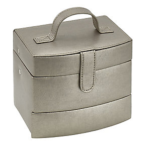 Metallic Medium Automatic Tray Travel Jewellery Box - Product number 3655296