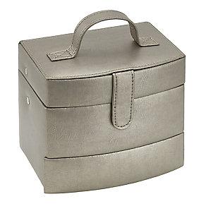 Metallic Medium Automatic Tray Travel Jewellery Box - Product number 3655296