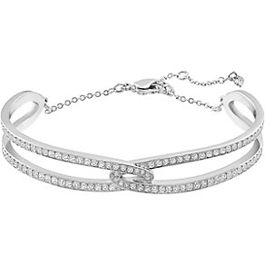Swarovski Creativity rhodium-plated crystal bangle - Product number 3657418