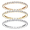 Swarovski Vittore mixed-plated zirconia ring set size P - Product number 3657493