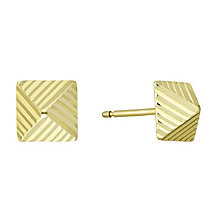 9ct yellow gold pyramid stud earrings - Product number 3658066