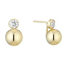 9ct yellow gold cubic zirconia double stud earrings - Product number 3658252