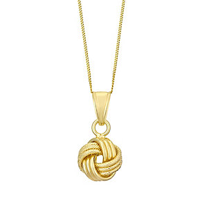 9ct yellow gold knot pendant - Product number 3658716