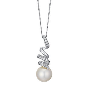 9ct white gold cultured freshwater pearl  pendant - Product number 3661202