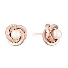 9ct rose gold culture freshwater pearl stud earrings - Product number 3661431