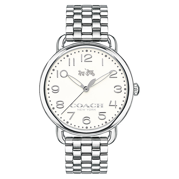 Coach ladies' stainless steel bracelet watch - Product number 3662195