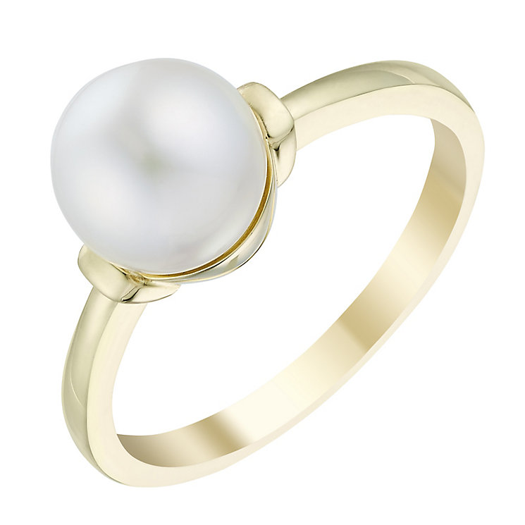 9ct yellow gold cultured freshwater pearl ring - Product number 3663647