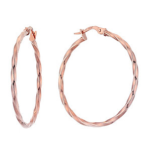 9ct rose gold creole earrings - Product number 3664171