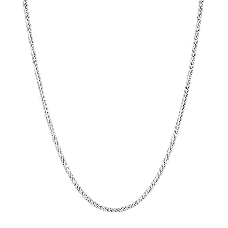 9ct white gold 18 inch medium spiga chain - Product number 3664201