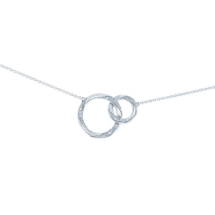 Miracle Links 9ct white gold 0.15ct diamond necklace - Product number 3664449