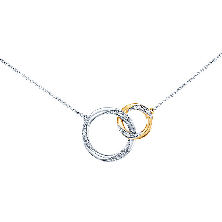Miracle Links 9ct gold & white gold 0.15ct diamond necklace - Product number 3664465