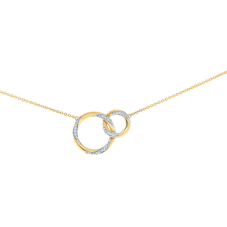 Miracle Links 9ct gold 0.15ct diamond necklace - Product number 3664627