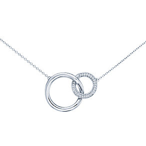 Miracle Links 9ct white gold 0.10ct diamond necklace - Product number 3664872