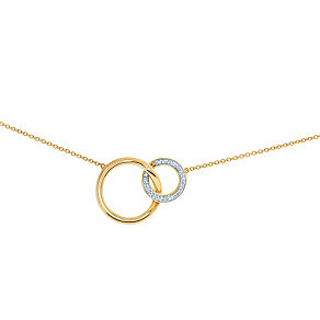 Miracle Links 9ct gold 0.10ct diamond necklace - Product number 3664880