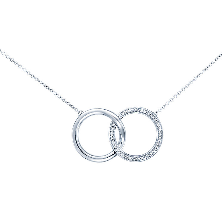 Miracle Links 9ct white gold diamond necklace - Product number 3664902