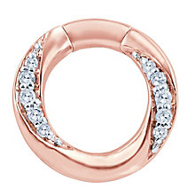 Miracle Links 9ct rose gold diamond link - Product number 3664945