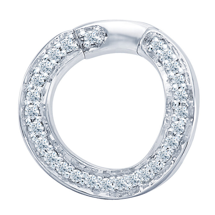 Miracle Links 14ct white gold 0.10ct diamond link - Product number 3665054