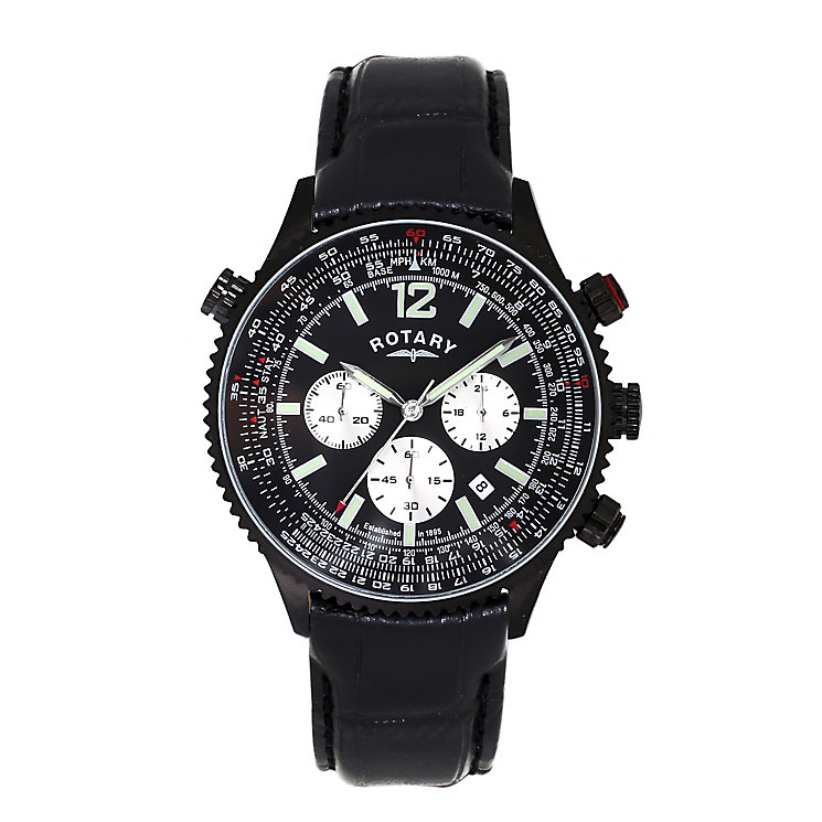 rotary watches automatic mechanical quartz h samuel rotary men s black dial black leather strap watch product number 3666328