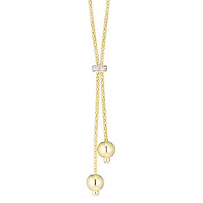 9ct gold & cubic zirconia tassel necklet - Product number 3667219
