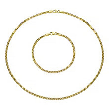 9ct gold necklet and bracelet set - Product number 3667227