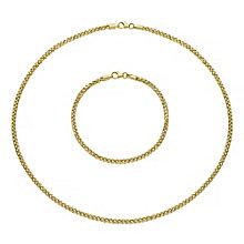 9ct gold necklet and bracelet set - Product number 3667227