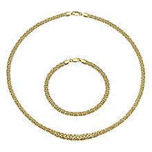9ct gold necklet and bracelet set - Product number 3667243