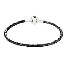 Chamilia Sterling Silver Black Leather Bracelet - Product number 3667731