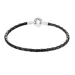 Chamilia Sterling Silver Black Leather Bracelet - Product number 3667731