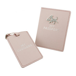 Pink Passport Holder & Tag - Product number 3669173