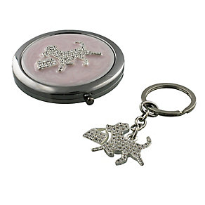 Pink Compact Mirror & Tag - Product number 3669181