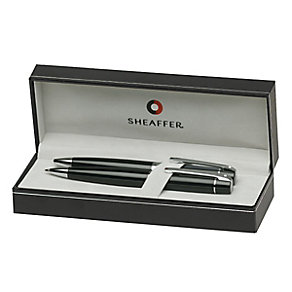 Sheaffer Series 300 Chrome & Black Ballpoint Pen & Pencil - Product number 3669203