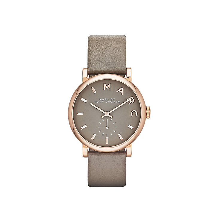 Marc Jacobs Baker Ladies' Rose Gold Tone Grey Strap Watch - Product number 3669572