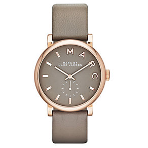 Marc Jacobs Baker ladies' rose gold plated grey strap watch - Product number 3669572