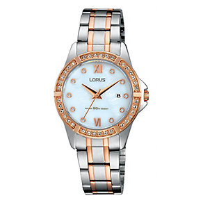 Lorus Ladies' Two Tone & Rose Gold Watch - Product number 3669599