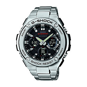 Casio G-Shock Black Dial Stainless Steel Bracelet Watch - Product number 3671011