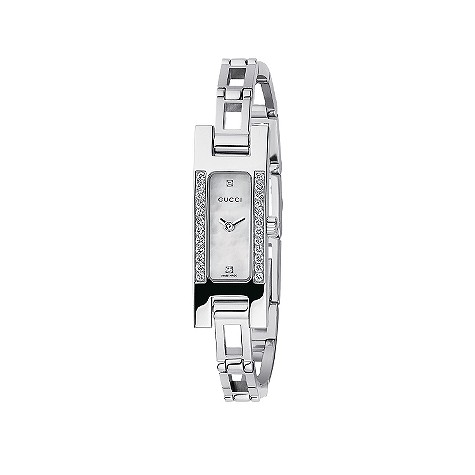 Gucci ladies' stainless steel diamond-set watch