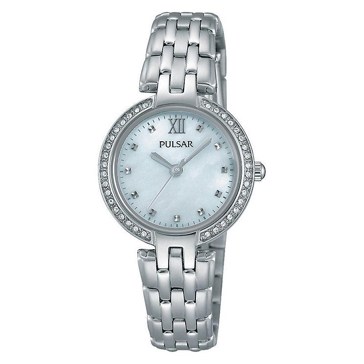 Pulsar Ladies' Stone Set Stainless Steel Bracelet Watch - Product number 3671135